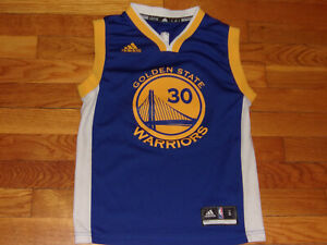 ADIDAS GOLDEN STATE STEPHEN CURRY NBA BASKETBALL JERSEY BOYS SMALL 8 EXCELLENT