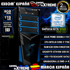 Ordenador Gaming PC Intel i7 7700 8GB 1TB HDD ASUS Gtx1050 2GB OC sobremesa