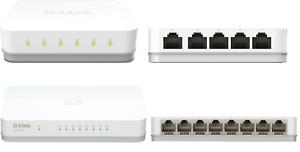 D-Link 5-Port 8- Port Gigabit Netzwerk Switch Easy Desktop 1000 Mbit/s LAN HUB