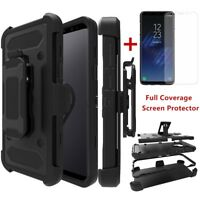 For Samsung Galaxy S9/S9 Plus Shockproof Armor Rugged Stand Clip Holster Case