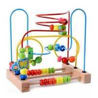 MWZ Giocattoli per bambini in legno cerchio primo labirinto di perline per  D7N4