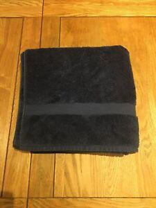 John Lewis Bath Towel 100% Egyptian Cotton Blue Durable Absorbent Towel
