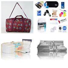 Luxury UNISEX pre-packed hospital/maternity bag holdall mum & baby burgundy owl