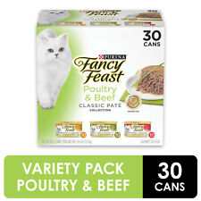 (30 Pack) Fancy Feast Grain Free Pate Wet Cat Food,3 oz. Cans + FREESHIPPING
