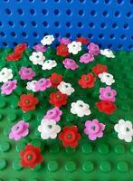 LEGO Bulk Flowers x12 Creator City Town Train Trees Minifigs Utensil Friends NEW