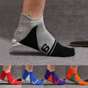 5 Pairs Mens five finger toe Breathe Socks Cotton Ankle Casual bacteria and Odor