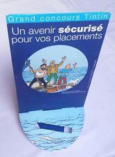 PLV TINTIN - Coke en Stock - Grand Concours Tintin BANQUE ASSURANCE 2003 - Rare