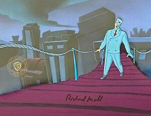 BRUCE TIMM rare TWO-FACE cel SIGNED Richard Moll PART 2 Batman BTAS WB COA