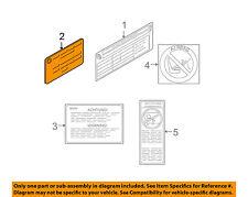 BMW OEM 11-16 X3 Labels-Information or Warning Sticker 71227502056