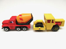 MATCHBOX SUPERFAST BOMAG ROAD ROLLER AND AND CEMENT TRUCK LOT