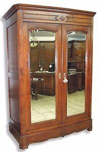 Spiegelschrank #56·Louis Philippe·um 1870·Eiche massiv·geschl. Spiegel