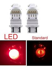 2x Philips 3157 RED 6000K Super Bright Xenon LED Light bulb 5050 Tail Brake Stop