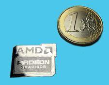 AMD RADEON GRAPHICS METALLIC CHROME EFFECT STICKER AUFKLEBER 20x17mm [386]