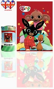 Bing Bunny Blanket ,Soft Touch Polar Fleece Blanket, Official Licenced.