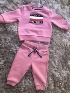 Tommy Hilfiger Baby Girl 6 Months Tracksuit Immaculate Condition
