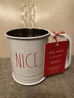 "Rae Dunn Christmas Flour Sifter White ""NICE.""  LL  New 2020"