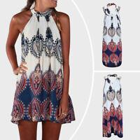 Womens Boho Beach Wear Bikini Cover Up Summer Mini Dress Tunic Long Shirt Tops