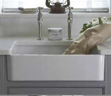 Small Farmhouse White Single Bowl Ceramic Belfast Butler Kitchen Sink Only £79