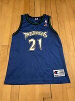 Minnesota Timberwolves Vintage 90's Kevin Garnett Champion Kids Jersey L 14-16