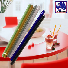 5pcs Glass Straw Tube For Party Drinking Juice Cocktail Color Random HKTU537x5