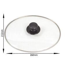 UNIVERSAL Slow Cooker Oval Glass Lid & Knob Handle 3.5L 5.5L 212 mm x 260 mm