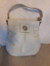 Coccinelle Leather Shoulder Bag Large Oyster