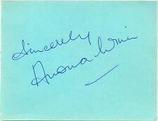 Anona Winn signed autograph page 1950s Australian actress/singer Petticoat Line