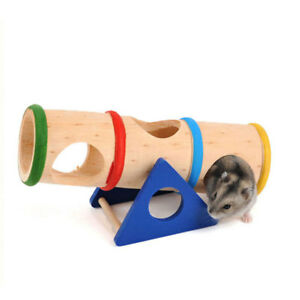 New Style Mini Hamster Pure Natural Wooden Safety Seesaw Ladder Toy Hamster Toy