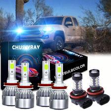For Toyota Tacoma 2016-2020 LED Headlight High Low Fog Light Bulbs Combo Kit 8K