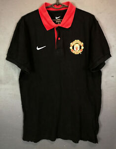 NIKE FC MANCHESTER UNITED POLO GOLF SOCCER FOOTBALL SHIRT JERSEY MAILLOT SIZE M