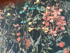 WILD FLOWERS  (E) 1.00 MTR by LIBERTY  DARK GREEN BACKGROUND on TANA LAWN COTTON