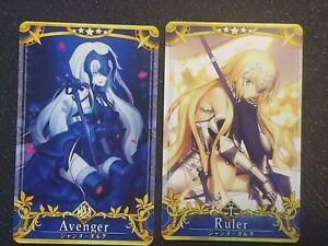 FGO Arcade Card Jeanne d'Arc Alter and Jeanne d'Arc FinalAscension