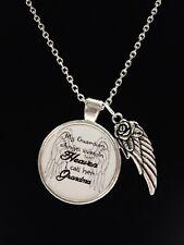 Necklace Grandma Guardian Angel Grandmother Heaven Memorial Sympathy Gift