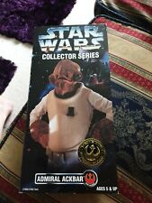 """star wars ADMIRAL ACKBAR 12"""" ACTION FIGURE DOLL POTF COLLECTOR missing top"""
