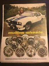 Original 1970s Mullins Wheels Ford Cobra Vintage Australian Print Advertising