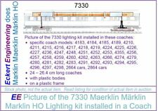 EE 7330 New Maerklin Märklin Marklin HO Passenger Car Interior Lighting Kit wOBX