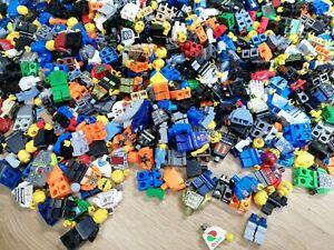 LEGO 50 MINIFIGURES TOWN CITY BOY TOWN PEOPLE HOODIE SUNGLASSES HAT SET