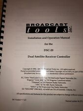 Broadcast Tools Owners Operation Manuals (pick One)