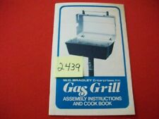 VINTAGE 1978 W.C. BRADLEY CHAR-BROIL GAS GRILL ASSEMBLY INSTRUCTIONS & COOK BOOK