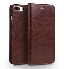 Genuine Leather Apple iPhone 7 Plus Luxury Card Flip Wallet Phone Case I47Plus