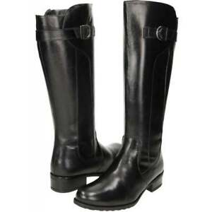 Women's Girls Black Comfort Plus Leather Knee Length Casual Formal Boots UK 3- 8