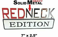 METAL Redneck Edition Emblem HIGHEST QUALITY ON EBAY Fender door Plymouth sign