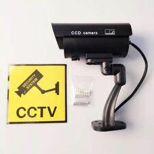 Outdoor Indoor Fake Dummy Imitation CCTV Security Camera W/Blinking Black