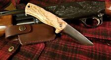 Helle Dokka Folder Folding Knife w/ Leather Case - Hand Made in Norway