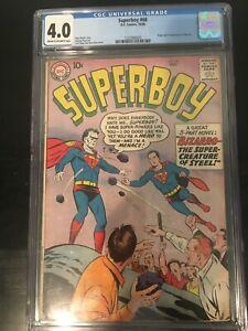 Superboy #68 CGC 4.0_Key_1st Bizarro_See Details!!!