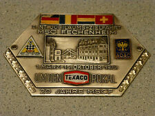 1972 I. INT. Jubilaums-Zielfahrt ADAC Badge emblem Fritz Reu & Co Heubach/Wortt.