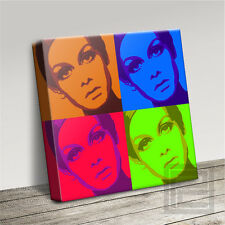 ANDY WARHOL STYLE TWIGGY WONDERFULLY ICONIC CANVAS PRINT PICTURE Art Williams