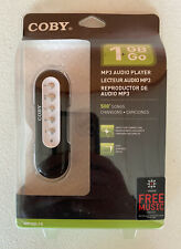 New Sealed Coby MP3 1GB Audio Player MP200-1G USB 500 Song Capacity or Data 1 GB