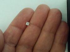 0.17 TCW Diamond Single Stud Earring, 14K Solid White Gold, Old Minor Cut