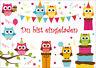 8 süsse Eulen-Einladungskarten zum Kindergeburtstag / Einladungen zur Party